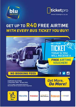 Ticketpro makes it easy and convenient to buy your long-distance bus tickets.