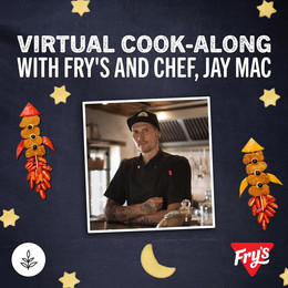 Kids cooking Virtual Cook-along with Kyle Buckingham and chef Jay Mac.