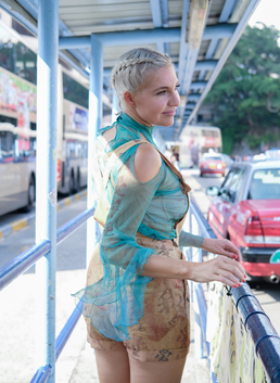 LIEZEL wears proudly local South African Designer in Hong Kong during MC Conference.