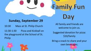 Family Newsletter ~ Sep. 19, 2019