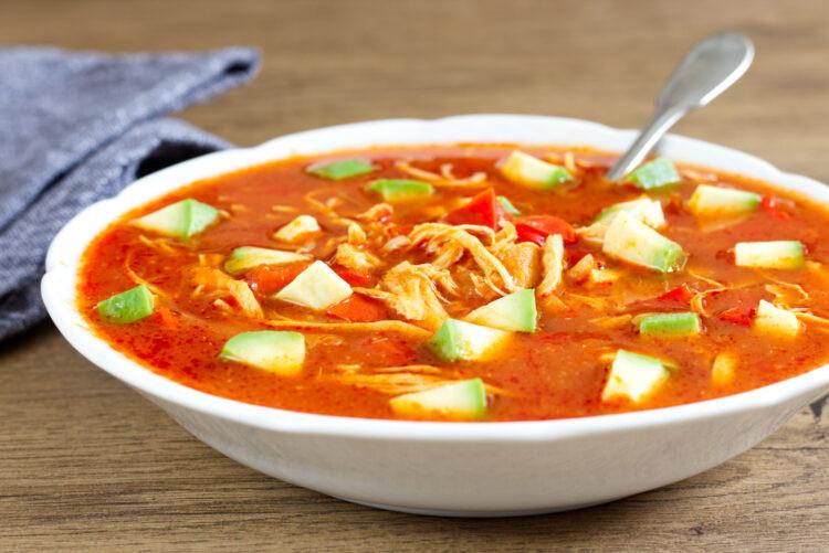 Aztécká kuřecí polévka