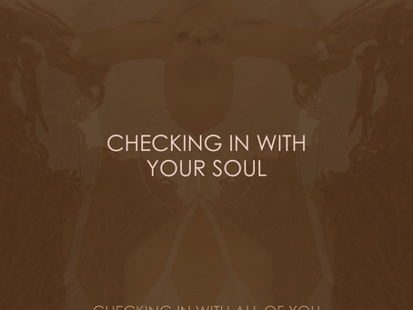 CHECKING IN WITH YOUR SOUL