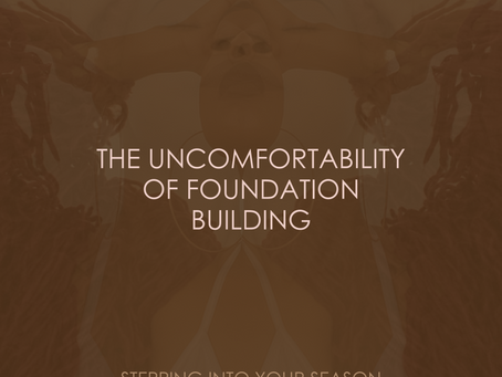 THE UNCOMFORTABILITY OF FOUNDATION BUILDING
