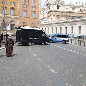 Prayer in an empty Vatican square