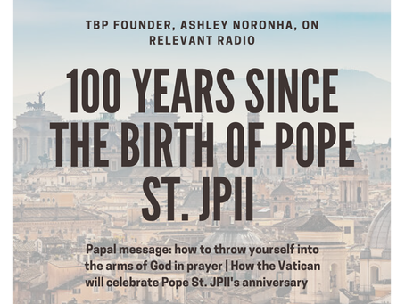 RR: 100th bday of JPII and throwing yourself in God's arms