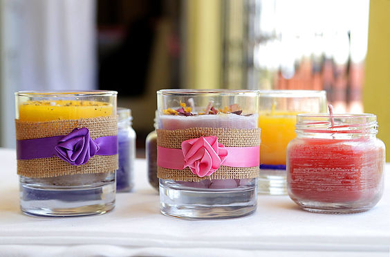 Ubani Trust scented candles made by our