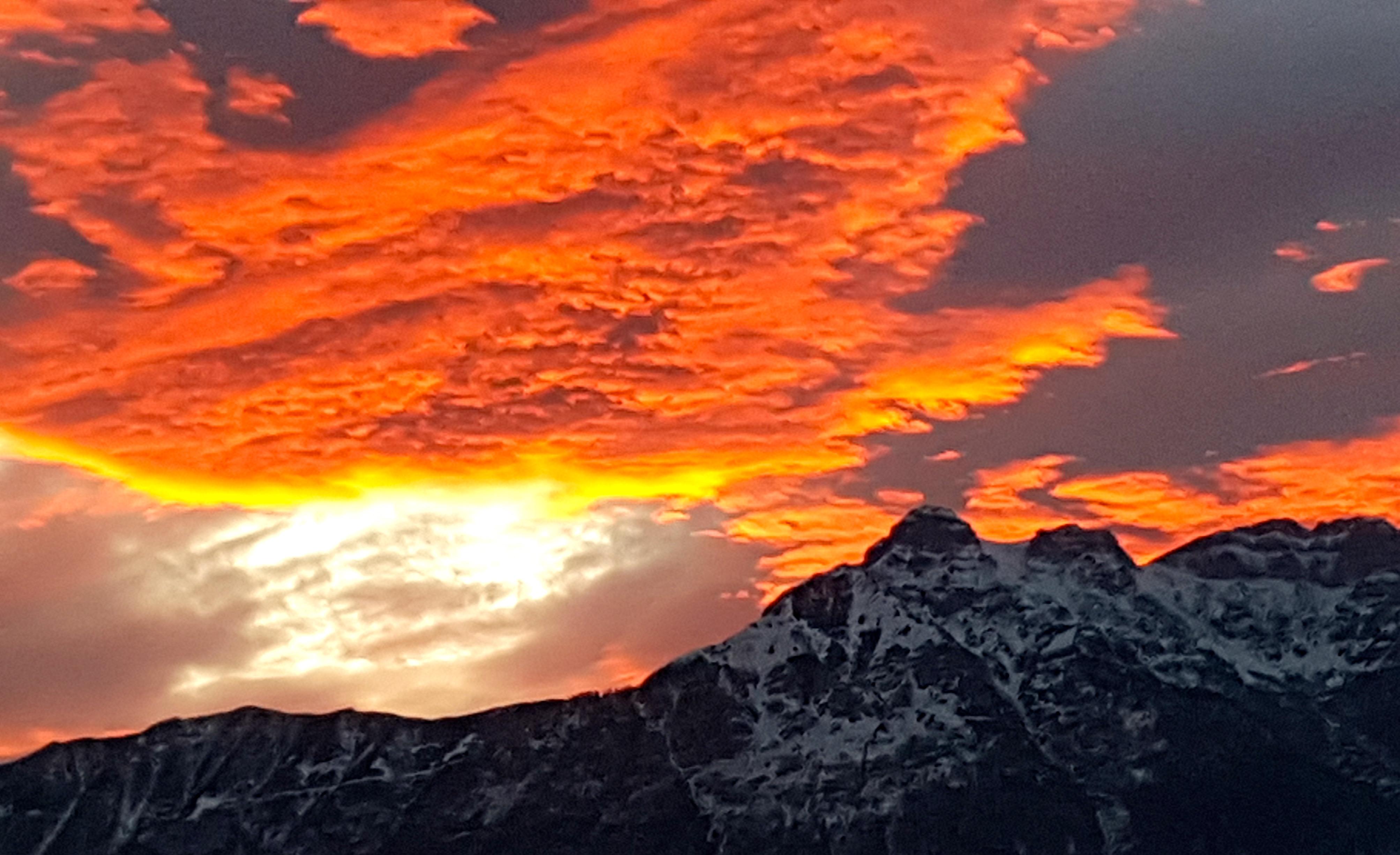 tramonto sulla Vigolana