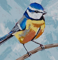 Painting of Blue Tit