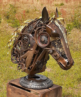 Rebel the animated Horse sculpture