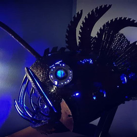 Lighted Anglerfish Sculpture