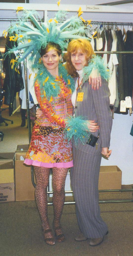 Debra Messing and Diana Eden