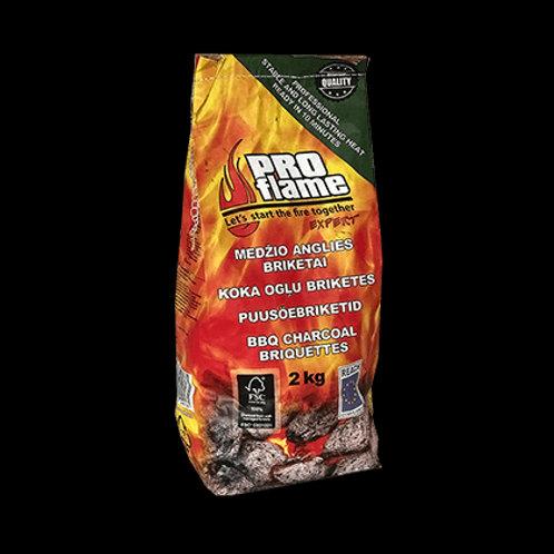 Briquettes PROFLAME Expert charcoal 2 kg