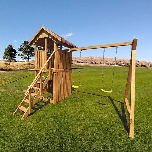 Medinė Smoke Dudes vaikų žaidimų aikštelė (gaminame individualius užsakymus)