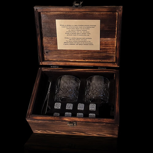 A set of reusable cooling dice in a handmade suitcase