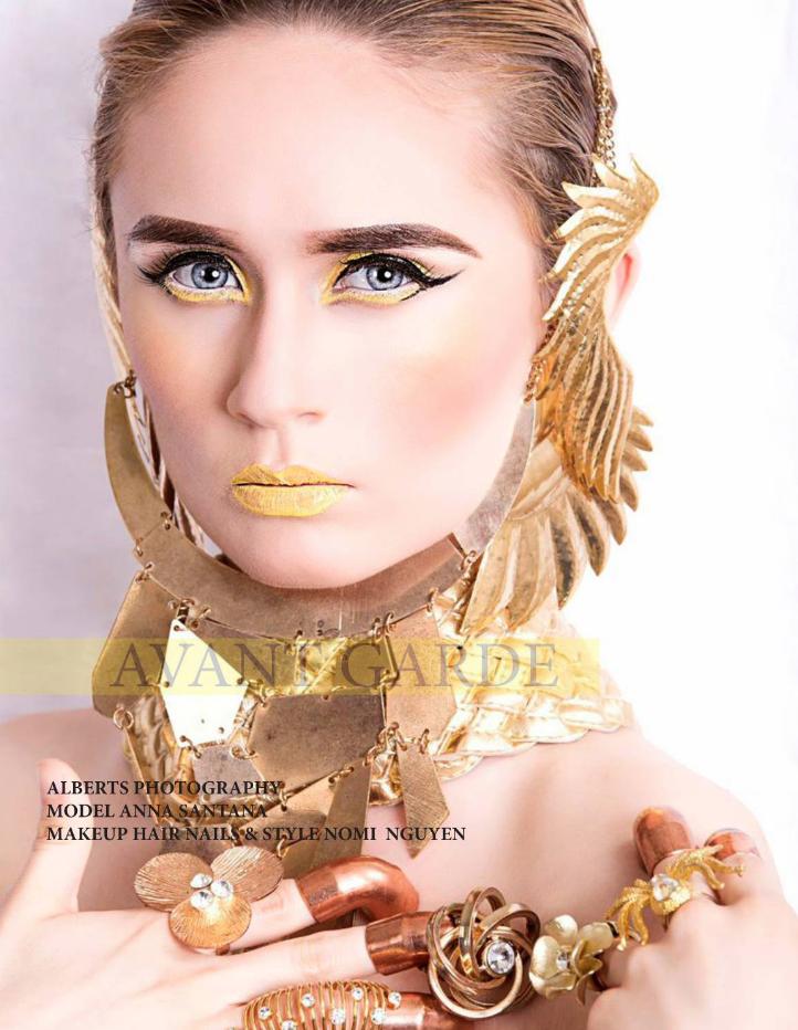 Avant Garde Magazine Model Anna Santana.