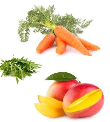 Vitamina A pode ser encontrada em alimentos amarelos, laranjas e verdes