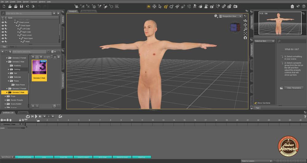 Desarrollo de Personaje 3D en Cartagena