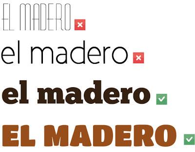 Uso correcto de tipografia en diseño