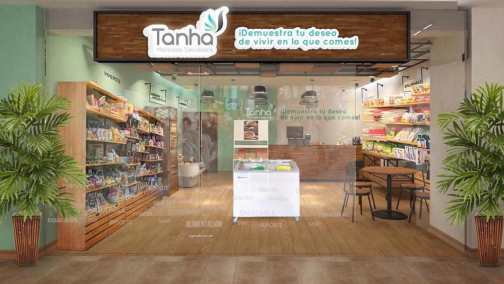 Render Conceptual Tienda Tanha 3D en Cartagena - Colombia