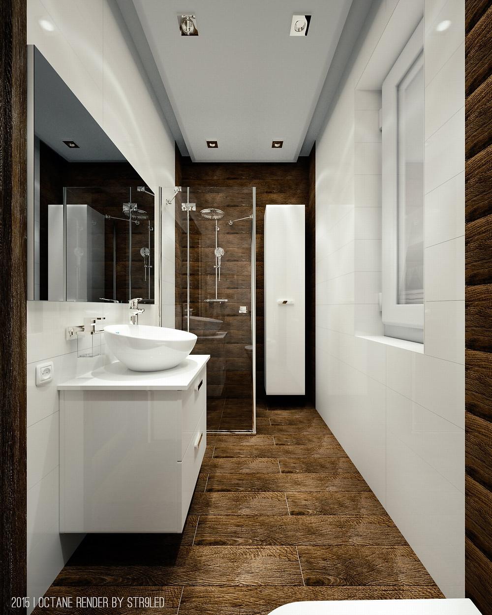Render arquitectonico interior realista