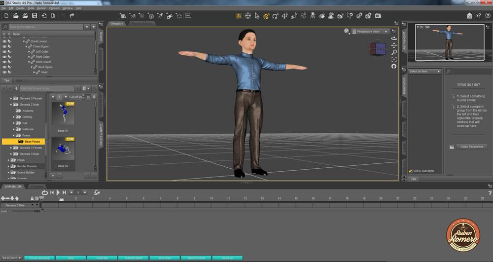 Animación 3D de Personaje