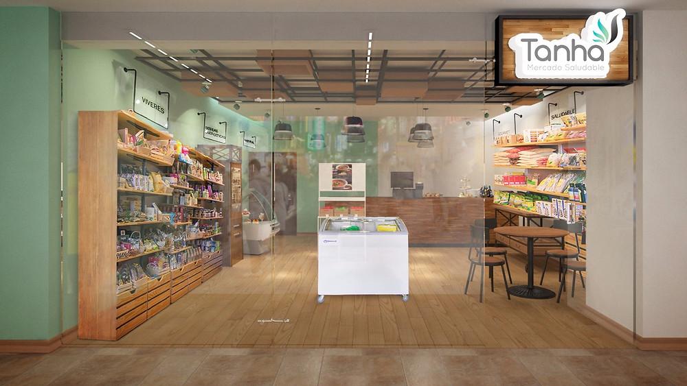 Render opcional tienda  Tanha en 3D en cartagena de Indias
