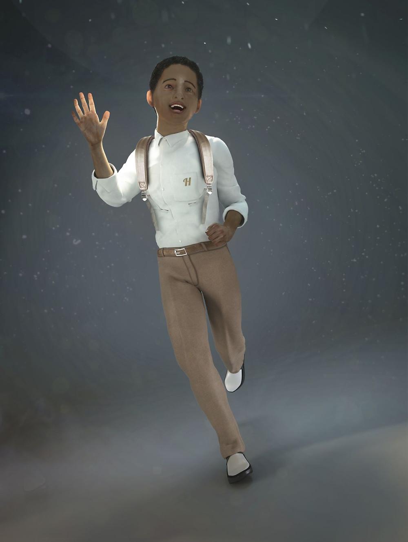 Personaje realista, render 3D, animacion de personajes