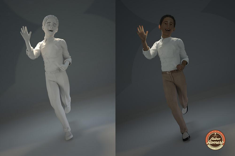 Render de personaje 3D para animacion en Cartagena