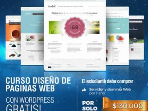 Flyer publicitario curso de diseño web