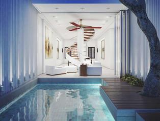 Render exterior minimalista