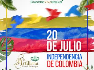 Diseño para redes sociales por independencia de Colombia