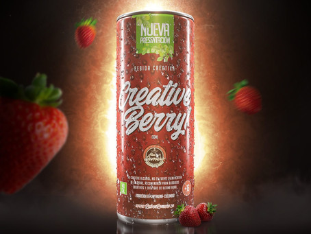 "MAKING OF: RENDER DE PRODUCTO BEBIDA CREATIVA ""CREATIVE BERRY"""