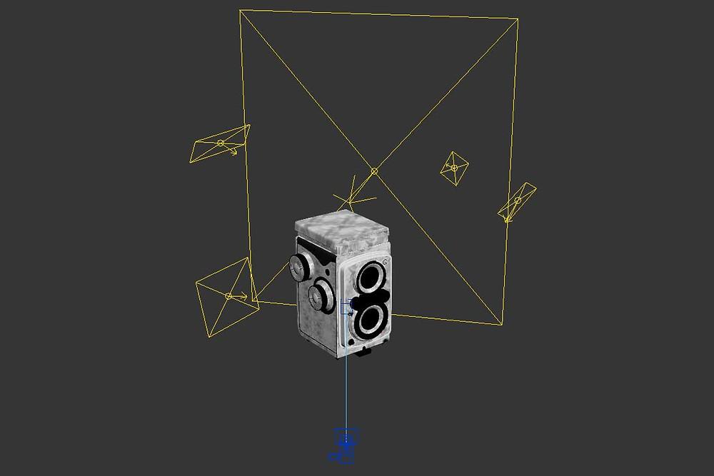 Configuración de iluminación para escenario 3D
