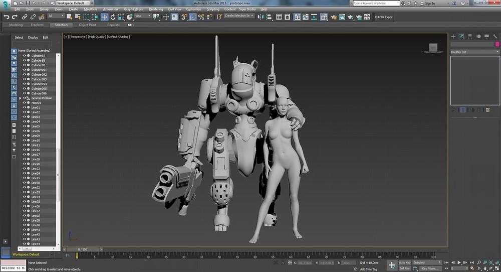 Personajes en 3Ds Max