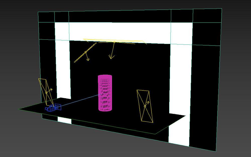 Diseño de escenario de producto 3D