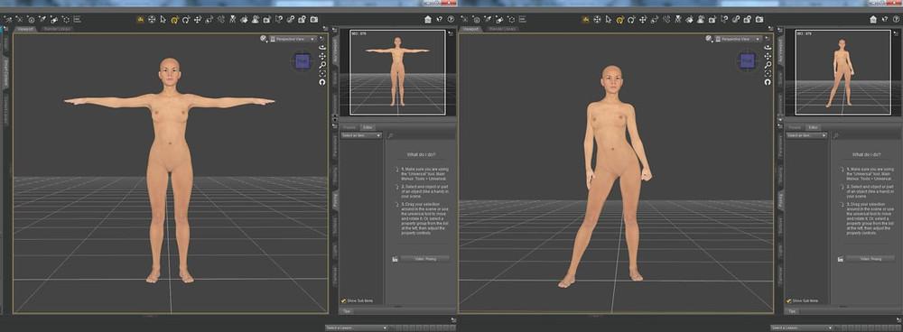 Configuración posición personaje 3D