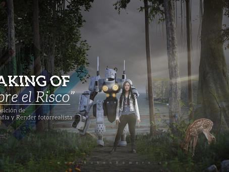 """MAKING OF """"SOBRE EL RISCO"""", COMPOSICIÓN DE FOTOGRAFÍA Y RENDER REALISTA"""