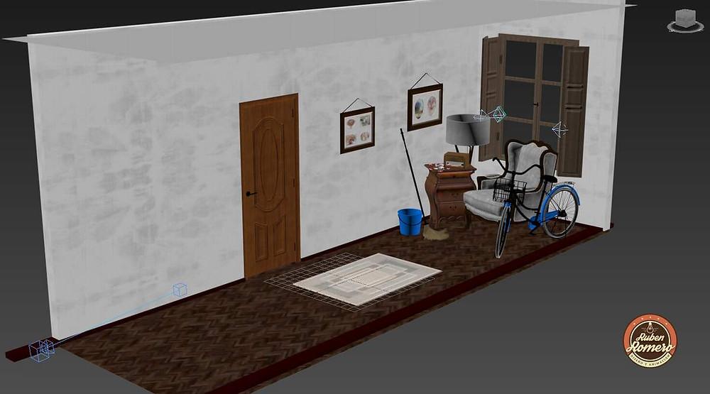 Making of Casa en las montañas Desarrollo de escena Render fotorrealista cartagena Colombia por Ruben Romero Diseño y Animacion