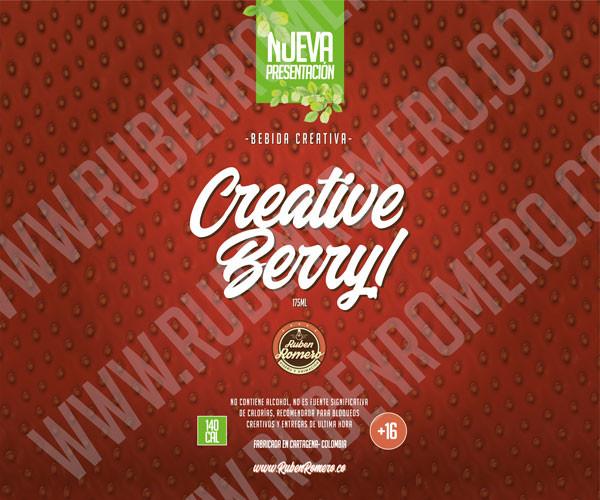 Diseño de empaque producto 3D bebida creativa