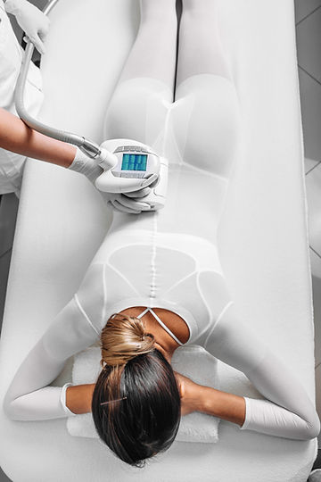 Beautiful woman getting beauty therapy a