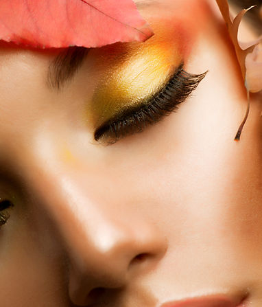 Autumn Makeup.Professional Fall Make-up