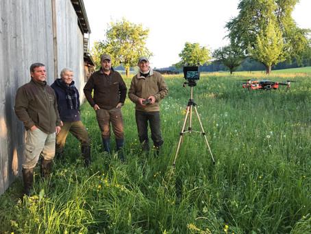 Das Jagdrevier Homburg engagiert sich in der Rehkitzrettung