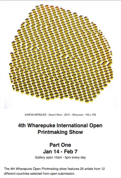 4th Wharepuke International open printmaking show