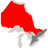 map of ontario highlighting northern area