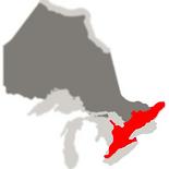 carte du sud de l'ontario