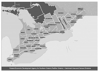map of southern ontario census divisions