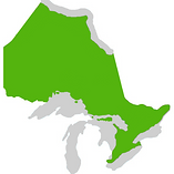 map of ontario highlighting southern area