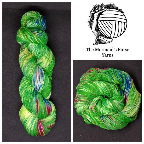 Anemone on Pure Merino Superwash Wool DK Light Worsted Yarn