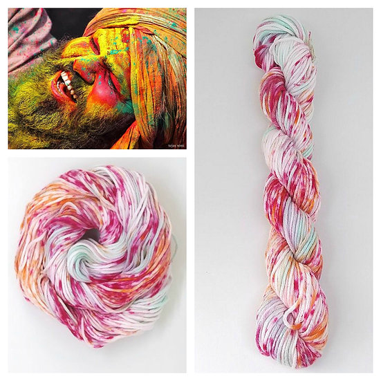 Holi available in 4ply, DK, Aran, Sock in Wool and Cotton