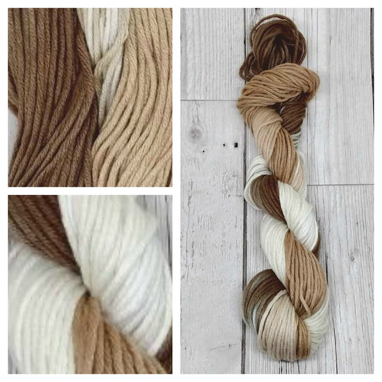 Tapa available in 4ply, DK, Aran, Sock in Wool and Cotton